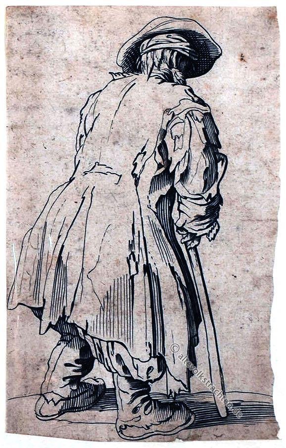 Jacques Callot, Bettler, 17. Jahrhundert, Barock, Kupferstecher, Radierung