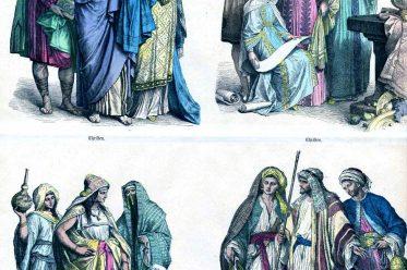 Christen, Araber, Kostüme, Kleidung, Münchener Bilderbogen, Mittelalter
