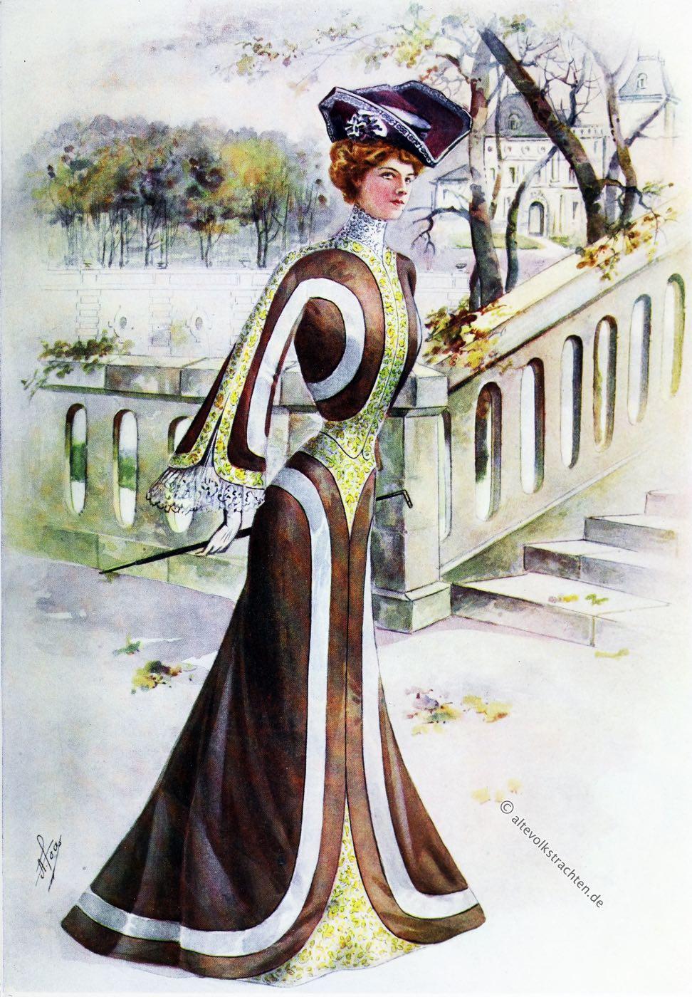 Belle Époque, QUEEN, Newspaper, Costume, Tailleur, Fashion, Fin de Siècle