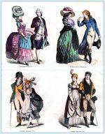 Mode zwischen 1780 und 1810.