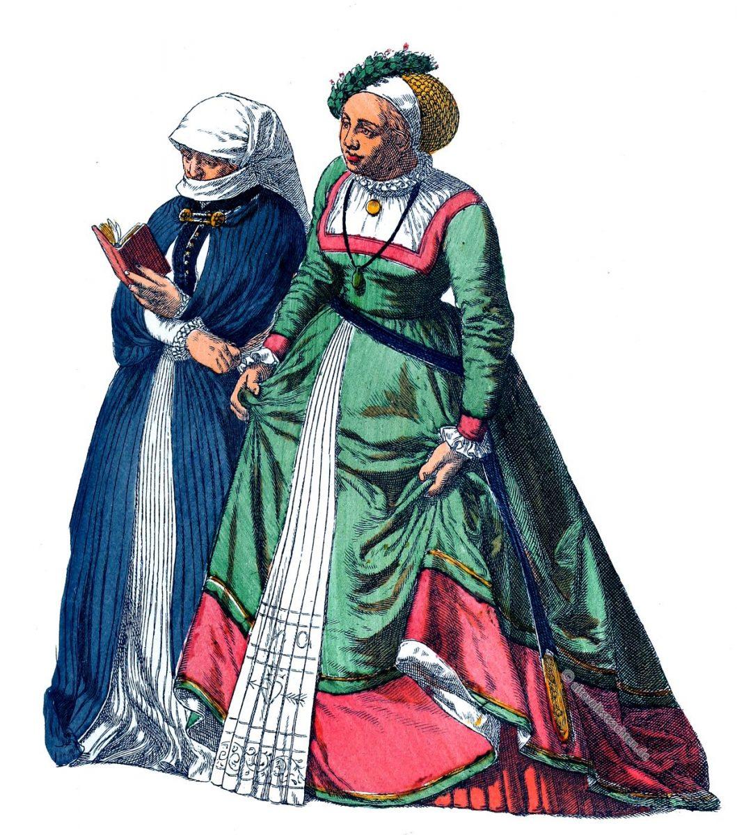 Trauerkleidung, Trachten, Trachten, Kostüme, Brautkleid, Kleidung, Albert Kretschmer, Renaissance
