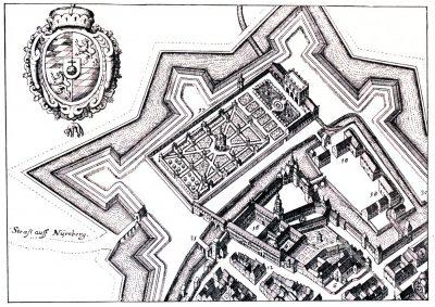 München, Kupferstich, Residenzgarten, Matthäus Merian, Barock,