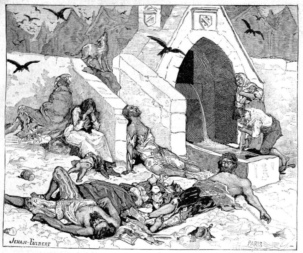 Pest, Paris, Mittelalter, ourdon de Genouillac, Histoire nationale