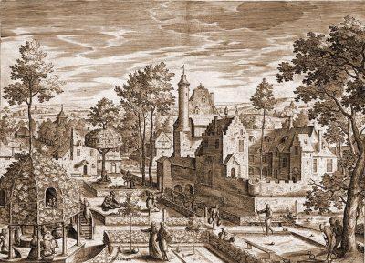 Schloss, Park, Hans Bol, Kupferstich, Renaissance,