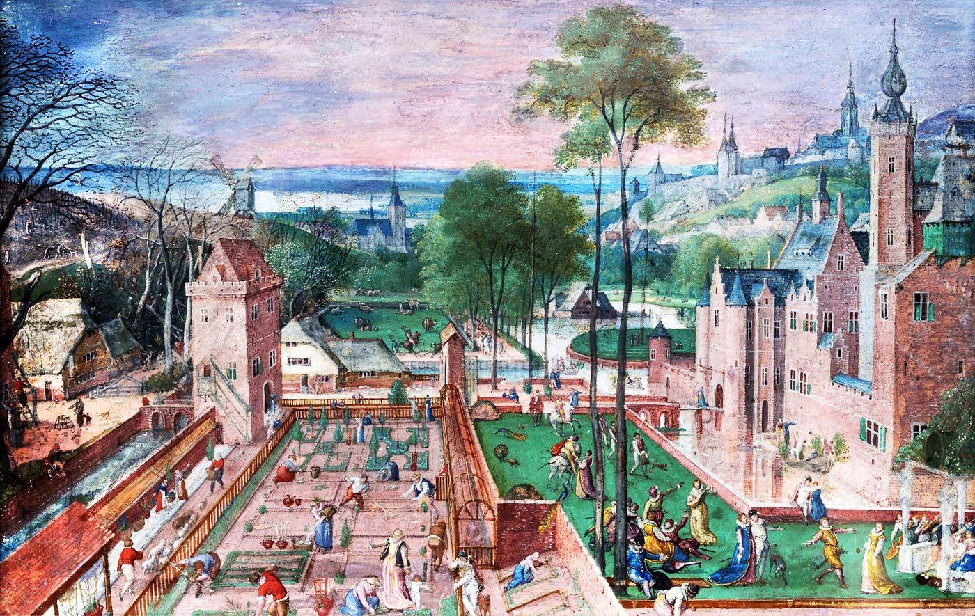 Schlossgarten, Hans Bol, Renaissance, Niederlande, Maler