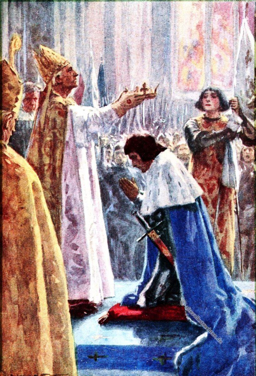 Jeanne d'Arc, Karl VII, Krönung, Frankreich, Kostümgeschichte