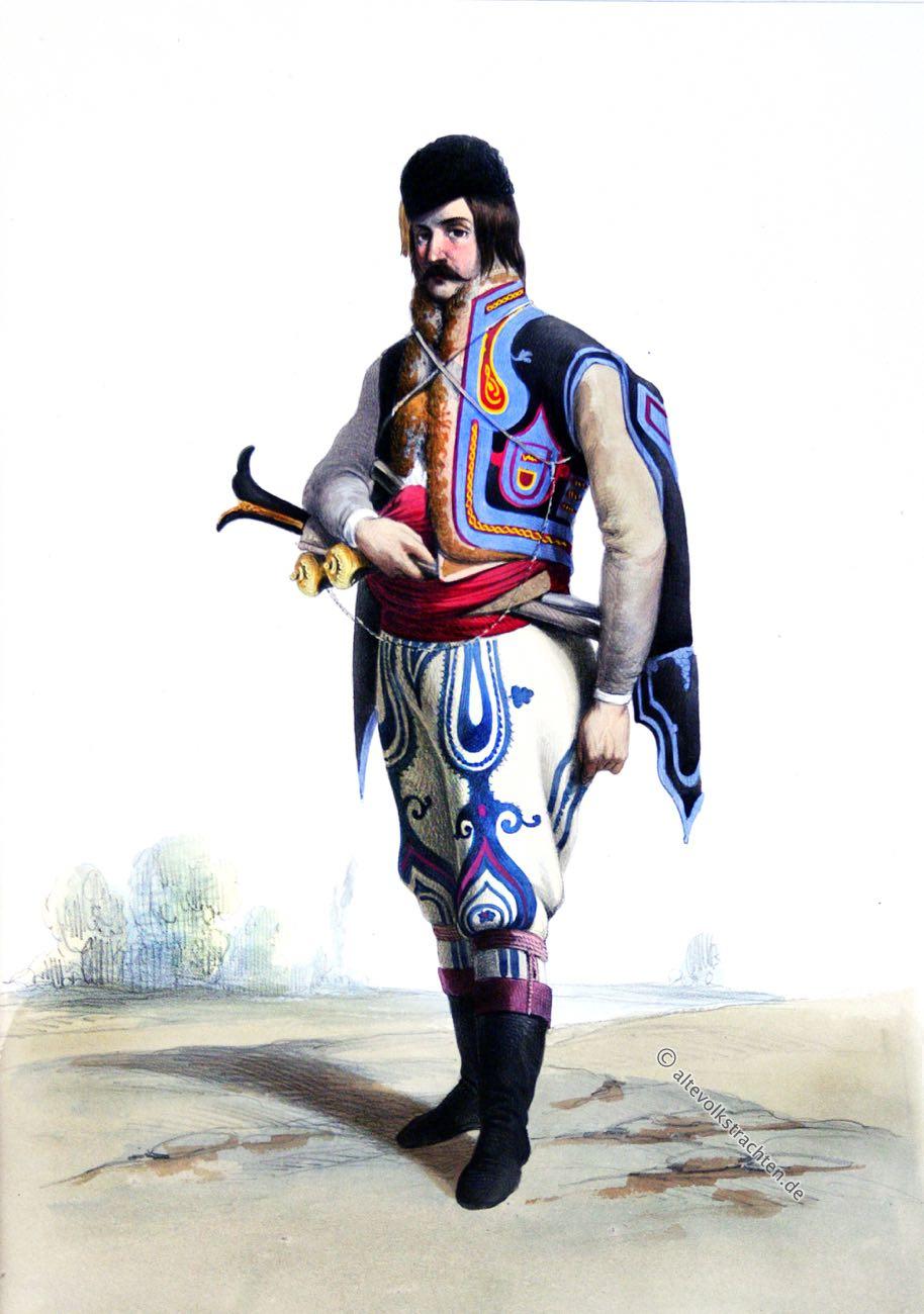 Dorobantz, Romanatz, Rumänien, Tracht, Soldat, Uniform, Ange-Louis Janet, Janet-Lange