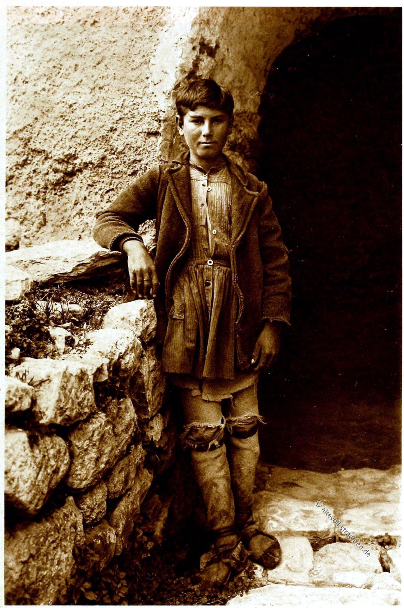Hirtenknabe, Tracht, Griechenland, Greek, ancient national costume, Shepherd Boy, Jeune pâtre
