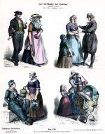 Holland Trachten im 19. Jahrhundert.