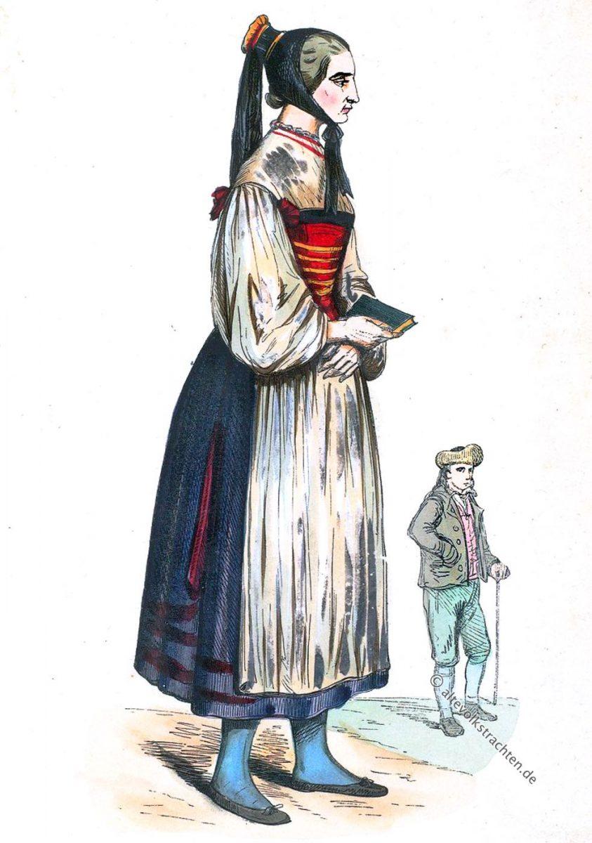 Auguste Wahlen, Ulm, Württemberg, Baden-Württemberg, Trachten, Tracht, Kleidung