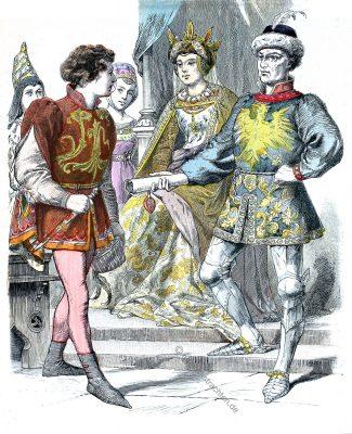 Burgunder Adel 1470. Karl der Kühne.