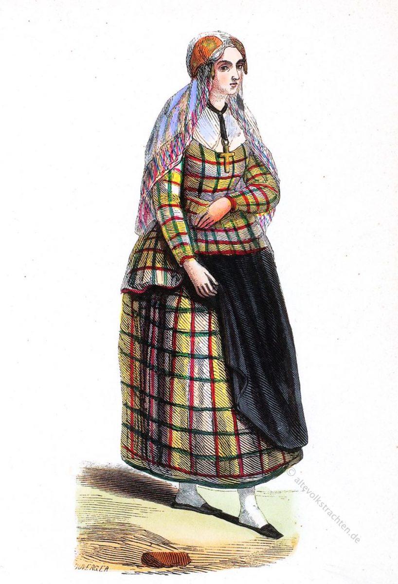 Friesland, Trachten, Auguste Wahlen, frise, costume, dress, Demoiselle,