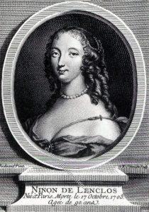 Ninon de Lenclos. Salonnière zur Zeit Louis XIV. 17. Jh.