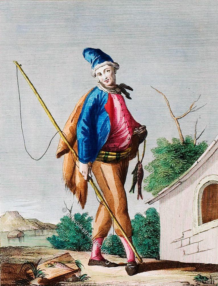 Mann aus dem Stadtteil Chiaia der Stadt Neapel.Vomo di Chiaia della Città di Napoli. Homme de Chiaia de la Ville de Naples.