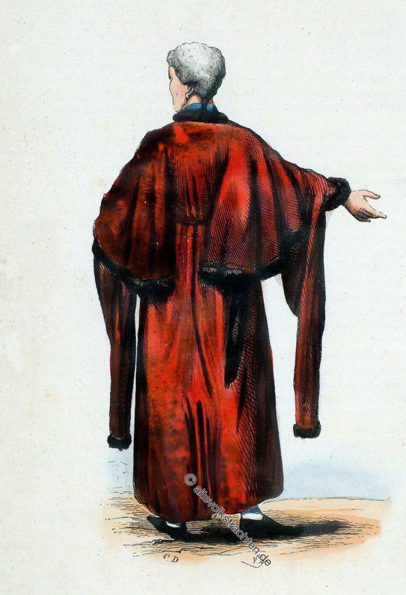 Englischer Ratsherr im offiziellen Gewand um 1840. Alderman from England.