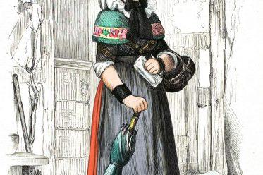 Minden, Westfalen, Nordrhein-Westfalen, Volkstrachten, Deutschland, Tracht, Historische Kleidung, Kostümgeschichte, Franz von Lipperheide