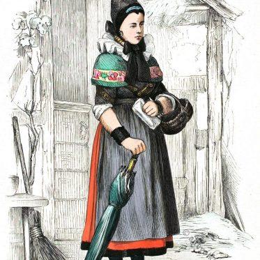 Bäuerin aus Klein-Bremen bei Minden.