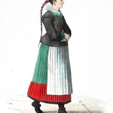 Bauernbraut aus der Nürnberger Gegend, um 1669.
