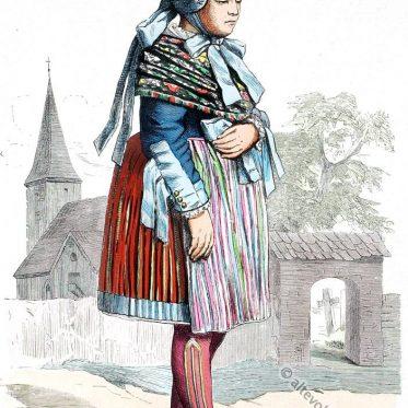 Pommersches Bauernmädchen aus dem Weizacker, Kreis Pyritz.