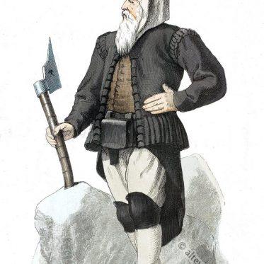 Sächsischer Bergmann, um 1600.  Kostümkunde von Franz Lipperheide