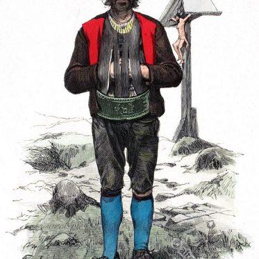 Bauer aus Schönna bei Meran, Südtirol.