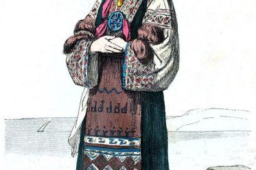 Tracht, Brautkleid, Morlach, Istrien, Kroatien, Vodnjan, Dalmatien, Balkan, historische Kleidung, Kostümgeschichte, Croatia