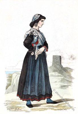 Tracht, Dignano, Istrien, Kroatien, Vodnjan, Dalmatien, Balkan, historische Kleidung, Kostümgeschichte, Croatia