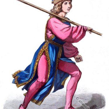 Burgundischer Knappe mit Lanze im 15. Jhd.