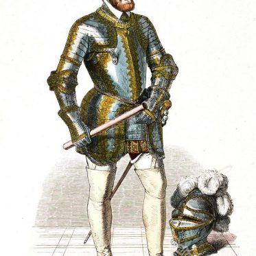 Karl V. in Prunkrüstung um 1545. Deutscher Kaiser.