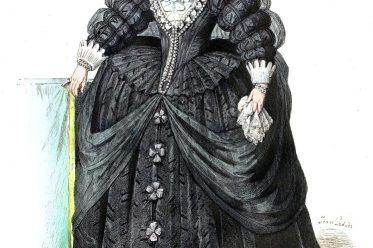 Maria von Medici, Königin, Frankreich, Barock Kostüme, Spanische Hoftracht, Modegeschichte, Kostümgeschichte,