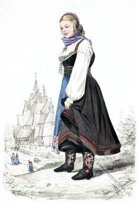 Heddal, Telemark, Norwegen, Trachten, Volkskostüme, Historische Volkstrachten, Skandinavien