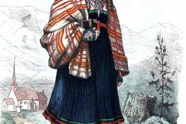 Säterdalen, Valle, Schweden, Bäuerin, Bauerntracht, Trachten, Volkskostüme, Historische Volkstrachten, Skandinavien