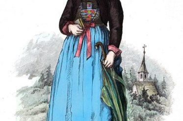 Montafon, Tracht, Mässle, Brautschäppele, Müder, Prüsnestlen, Tscboppe, Regendächle, Vorarlberg, Österreich, Lipperheide