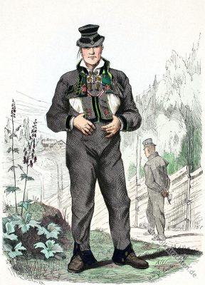 Säterdalen, Valle, Schweden, Bauer, Bauerntracht, Trachten, Volkskostüme, Historische Volkstrachten, Skandinavien