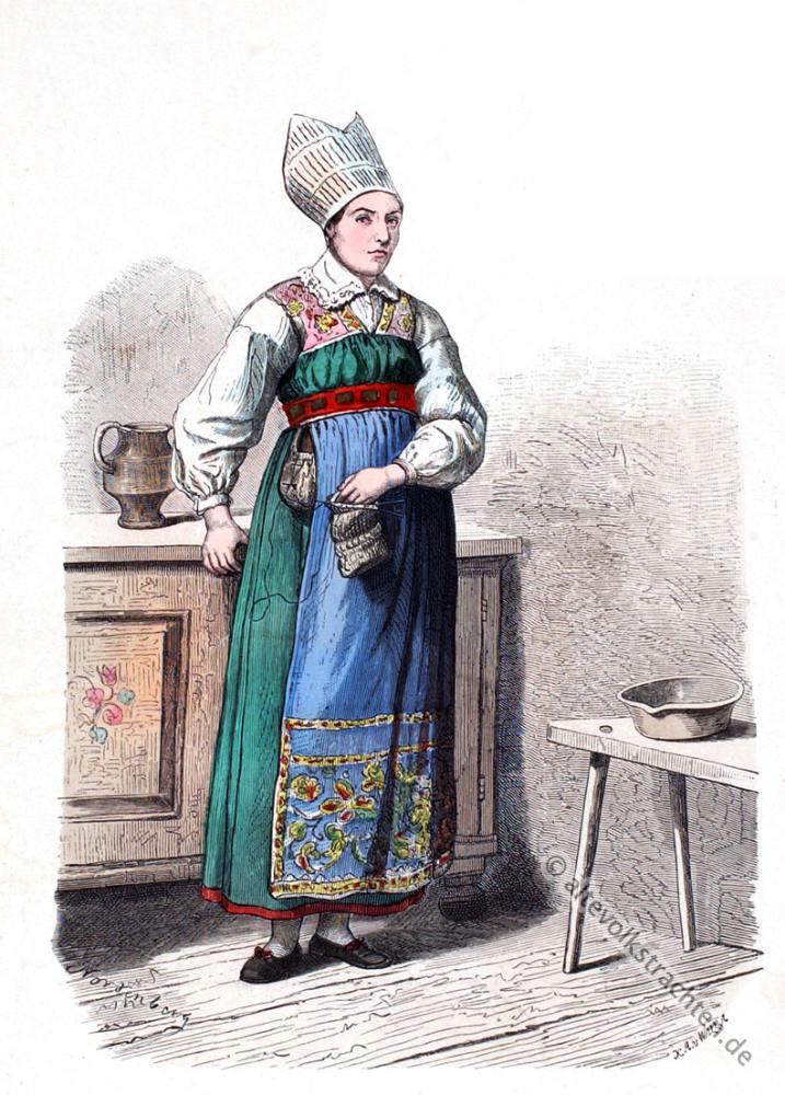West-Wingaker, Schweden, Bauer, Bauerntracht, Trachten, Volkskostüme, Historische Volkstrachten, Skandinavien