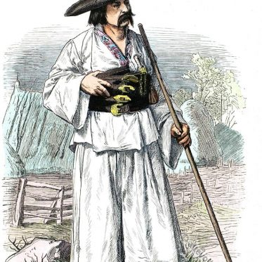Arad, Walachei Rumänien. Historisches Kostüm.