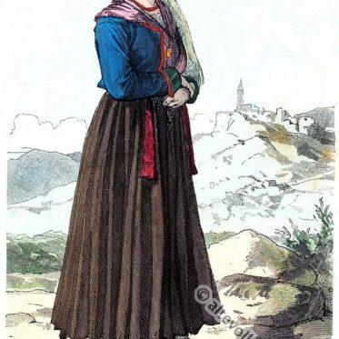 Frau aus Albona, Labin in Istrien.