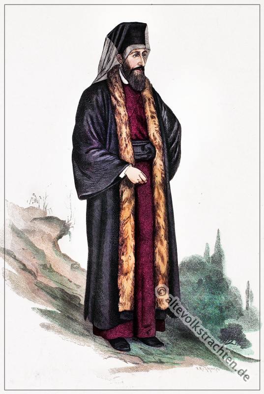 Armenien, Kirche, Armenischer Priester, Tracht, Kleidung, Lipperheide, Kostümgeschichte, Modegeschichte, Pfarrer,
