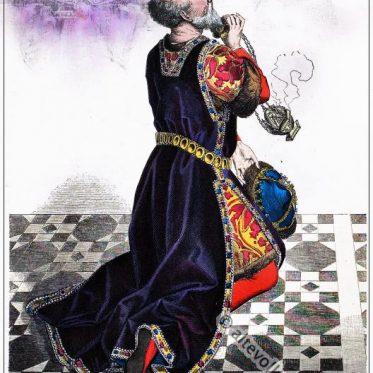 Burgundischer Fürst im Kostüm des 15. Jh.