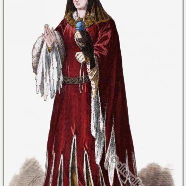 Burgundische Fürstin mit Gugel. Anfang des 15. Jahrh.