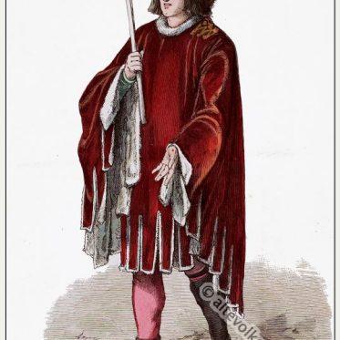 Burgundischer Fürst in Hoike. 15. Jahrhundert.