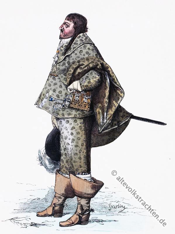 König Christian IV von Dänemark. Bekleidung und Mode im 17. Jahrhundert.