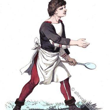 Deutscher Koch Ende des 15. Jahrhunderts.