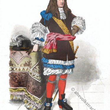 Deutsche Tracht eines vornehmen Mannes 1670-1680