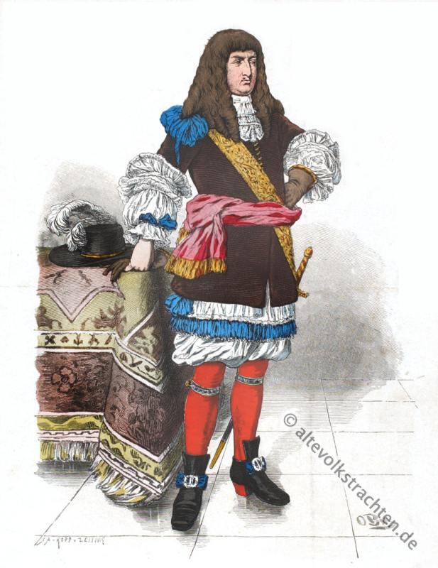Kleidung, Barock, 17. Jahrhundert, Kostümgeschichte, Modegeschichte
