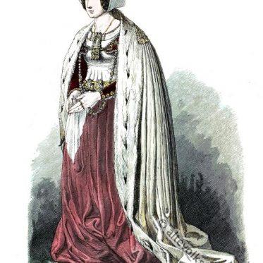 Lübecker Patrizier Frau im 15. Jahrhundert.