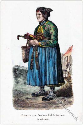 Dachau, Oberbayern, Bäuerin, Tracht, Dirndl, Franz Lipperheide