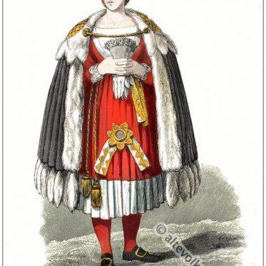 Alte Friesland Tracht aus Sylt im 18. Jahrhundert.