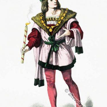 Vornehmer deutscher Mann um 1480.