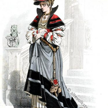 Edelfrau, Kostüm, Renaissance